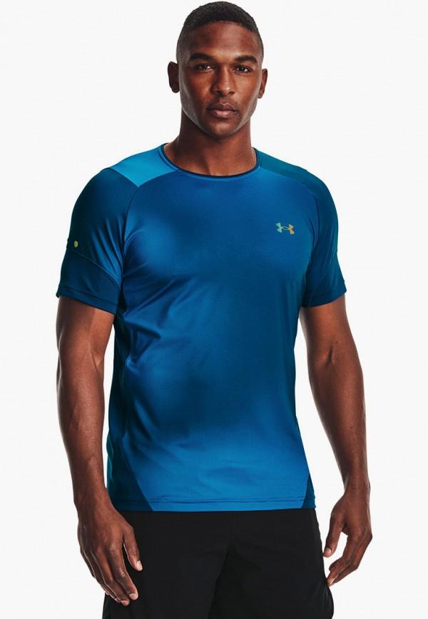 мужская спортивные футболка under armour, синяя
