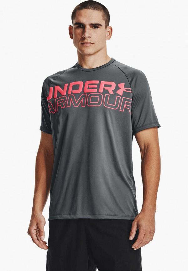 мужская спортивные футболка under armour, серая