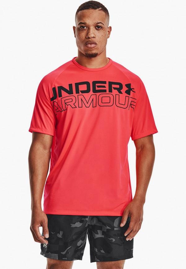 мужская спортивные футболка under armour, розовая