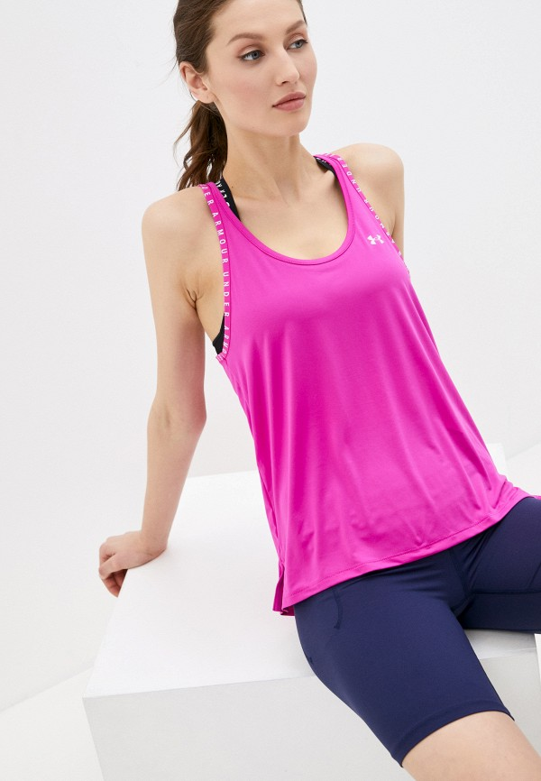 женская спортивные майка under armour, розовая