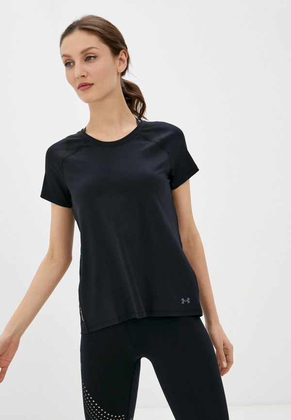 женская спортивные футболка under armour, черная