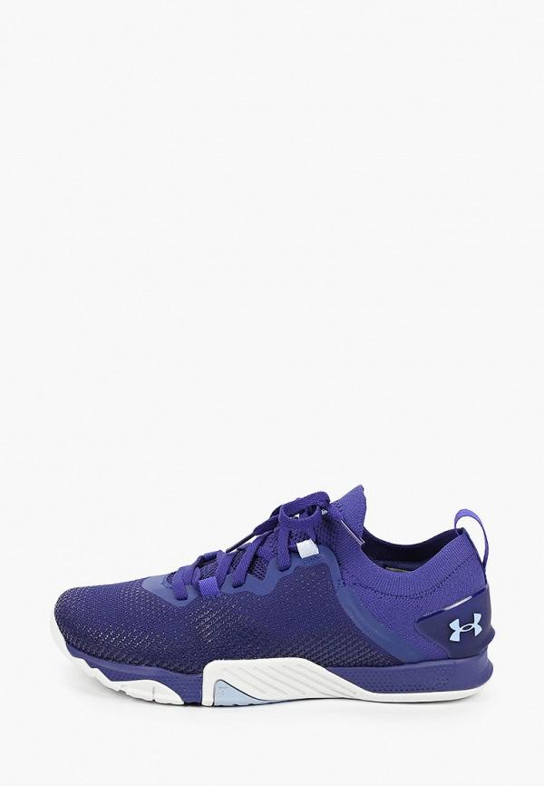 женские кроссовки under armour, синие