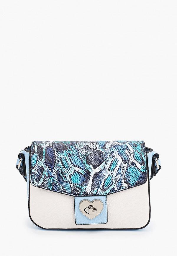 женская сумка fabretti, голубая