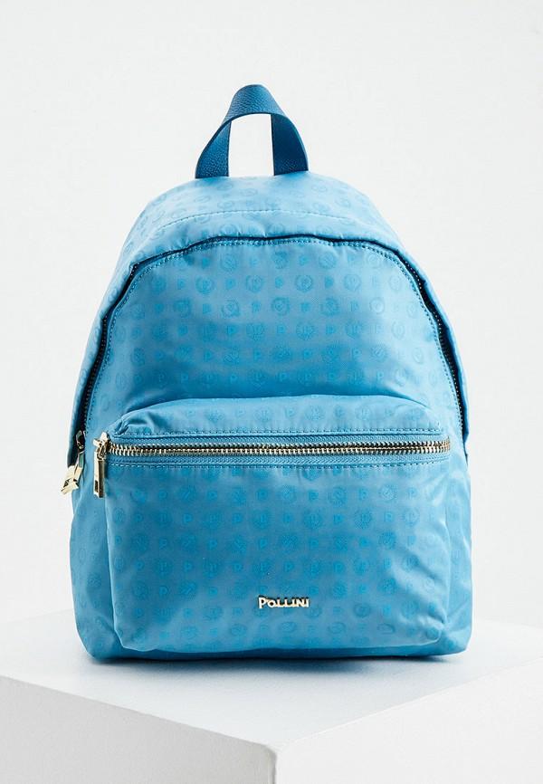 женский рюкзак pollini, голубой