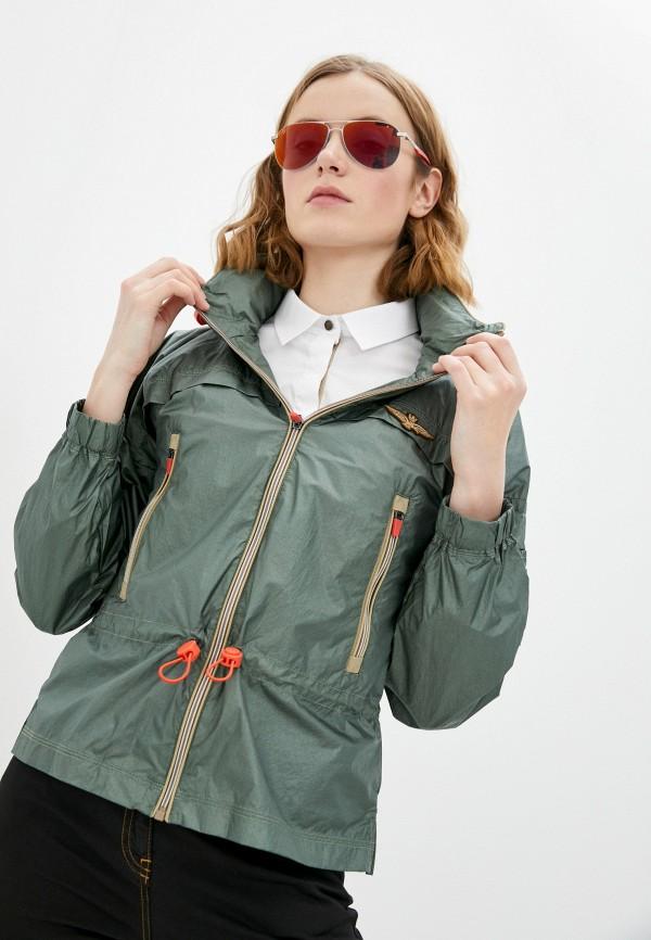 женская куртка aeronautica militare, бирюзовая