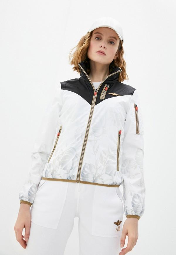 женская легкие куртка aeronautica militare, белая