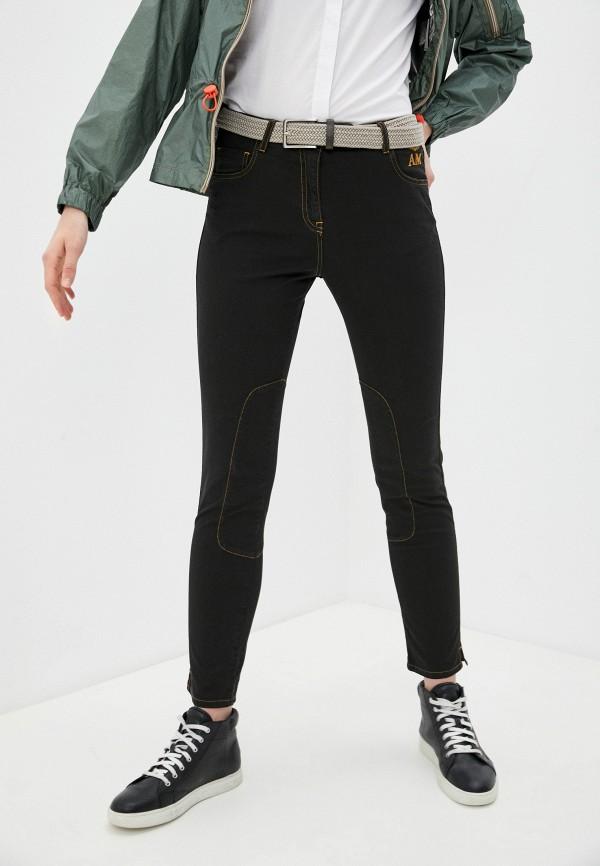 женские повседневные брюки aeronautica militare, черные