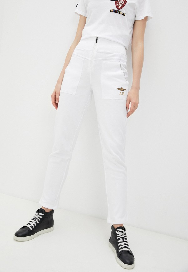 женские спортивные брюки aeronautica militare, белые