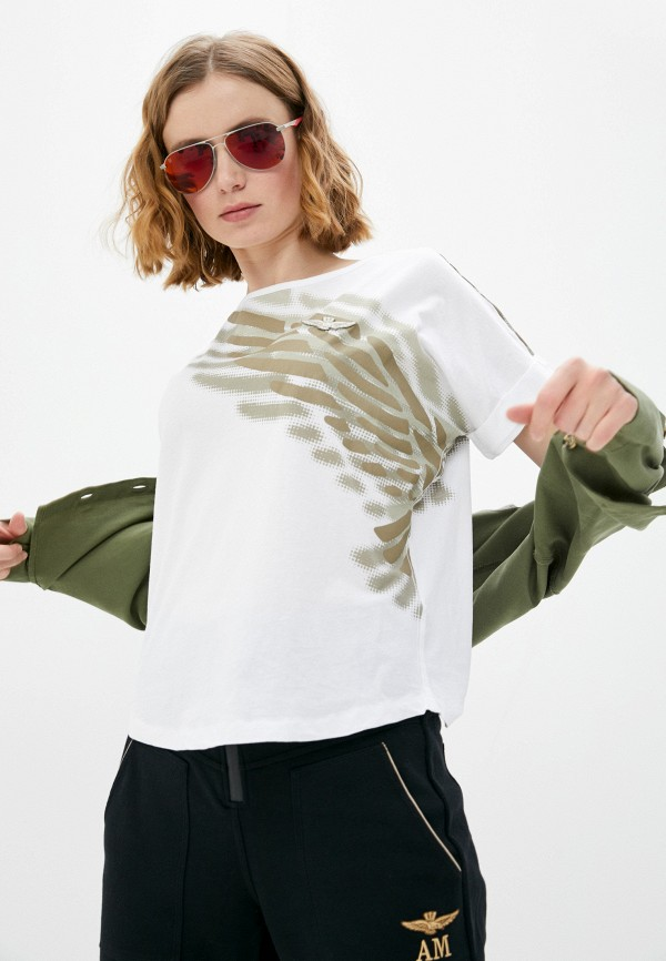 женская футболка aeronautica militare, белая