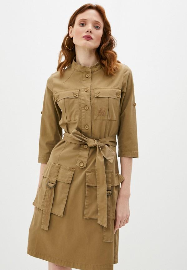 женское повседневные платье aeronautica militare, хаки