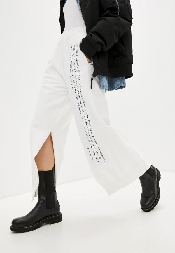 женские спортивные брюки mm6 maison margiela, белые