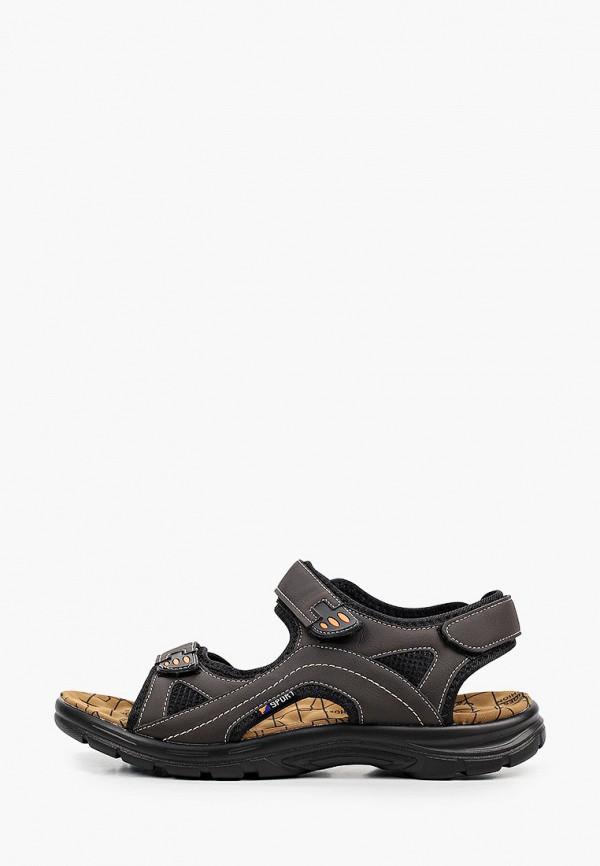 мужские сандалии patrol, коричневые
