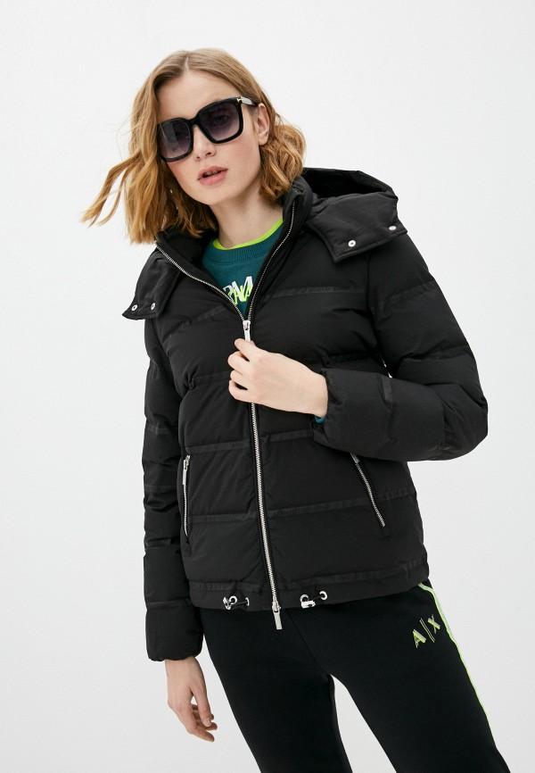 женская куртка armani exchange, черная
