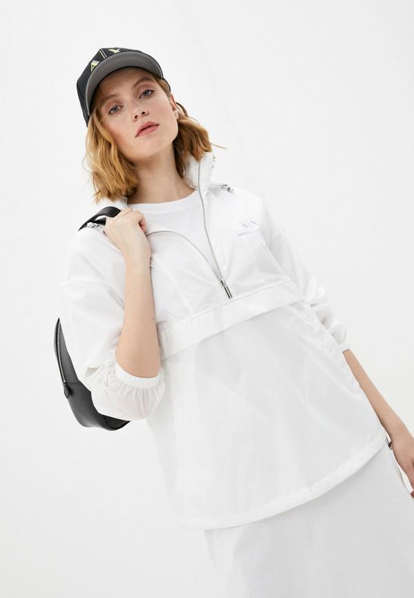 женская куртка armani exchange, белая