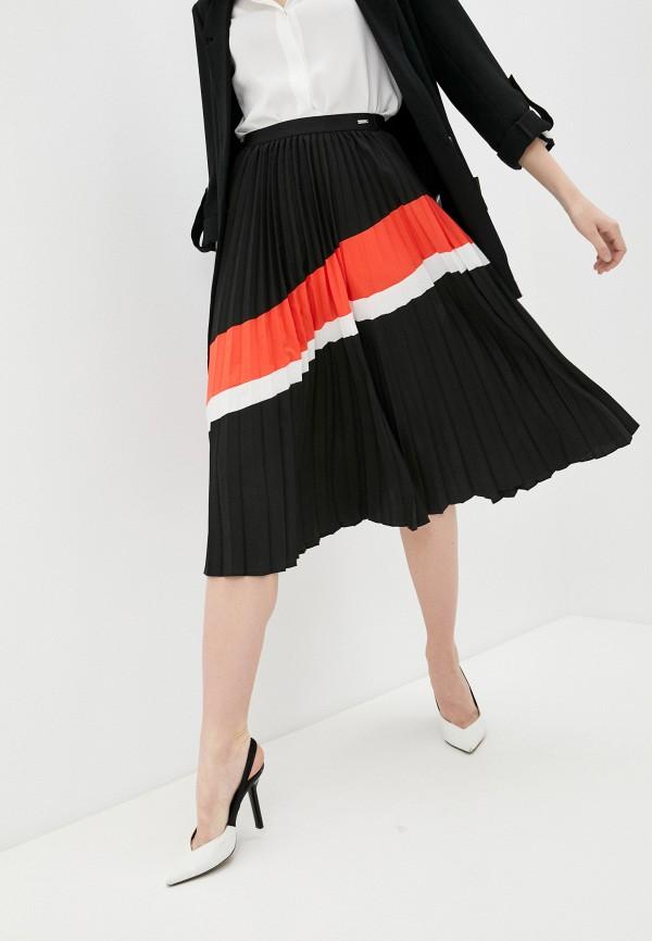 женская плиссированные юбка armani exchange, черная