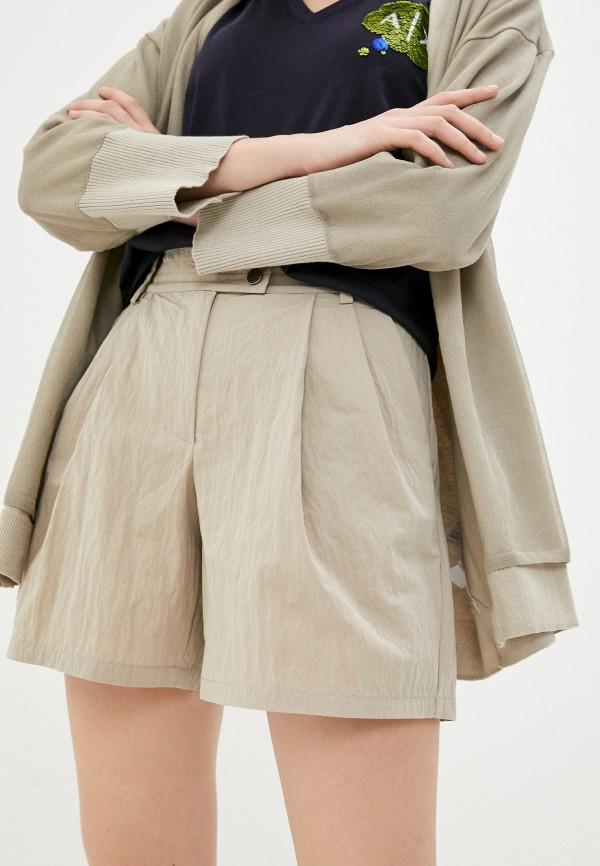 женские повседневные шорты armani exchange, бежевые