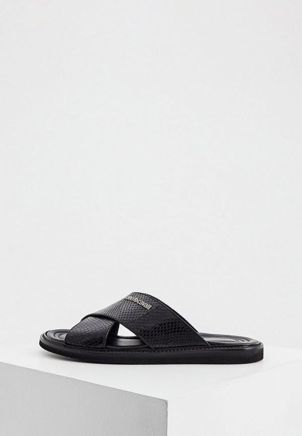 мужские сандалии roberto cavalli, черные
