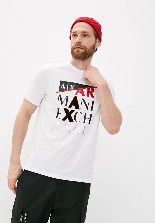 мужская футболка armani exchange, белая