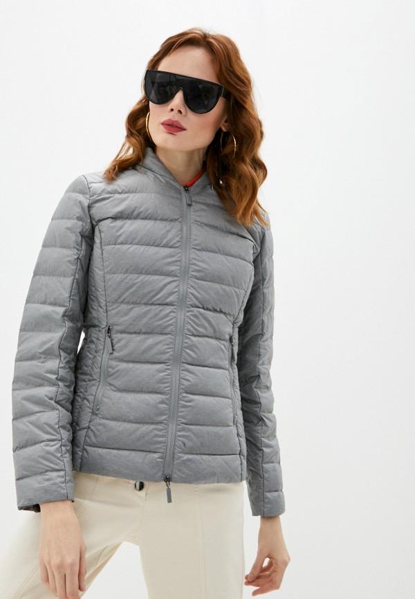 женская утепленные куртка armani exchange, серая