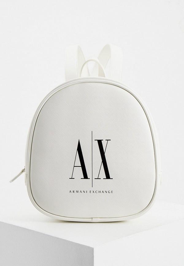 женский рюкзак armani exchange, белый