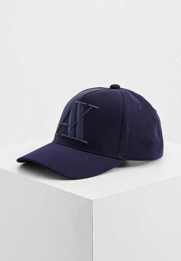 мужская бейсболка armani exchange, синяя