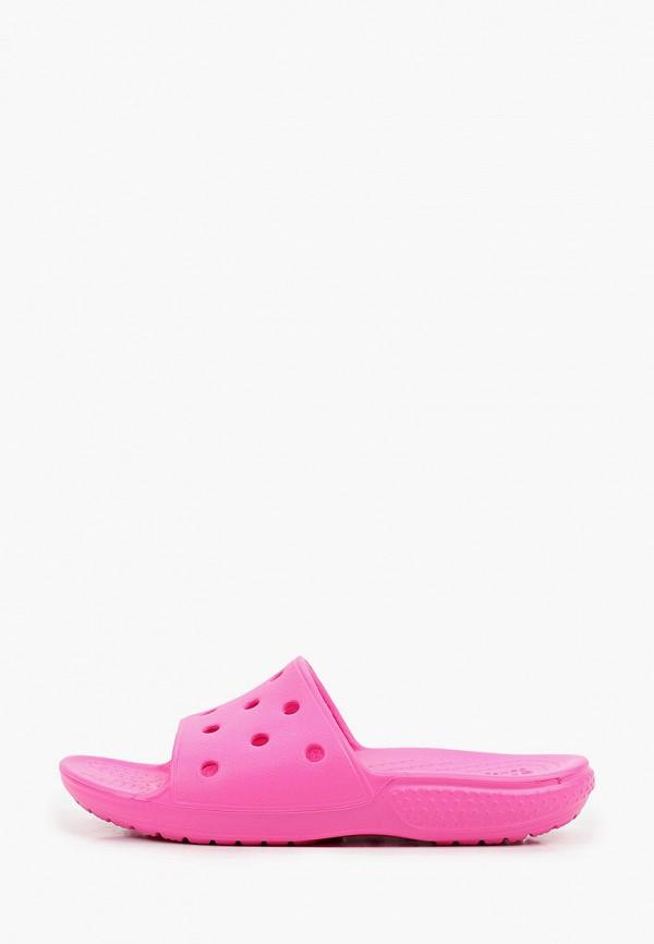 сланцы crocs для девочки, розовые