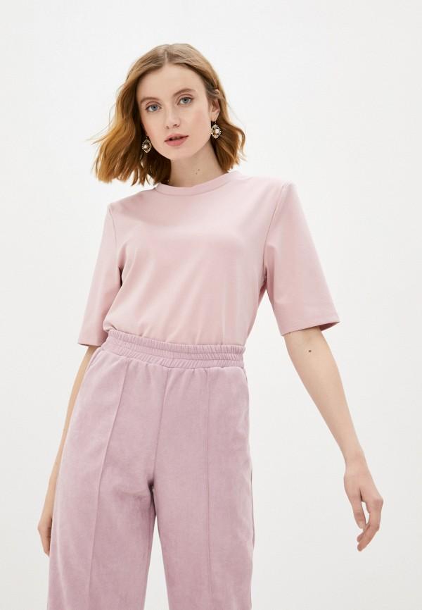 женская футболка nataliy beate, розовая