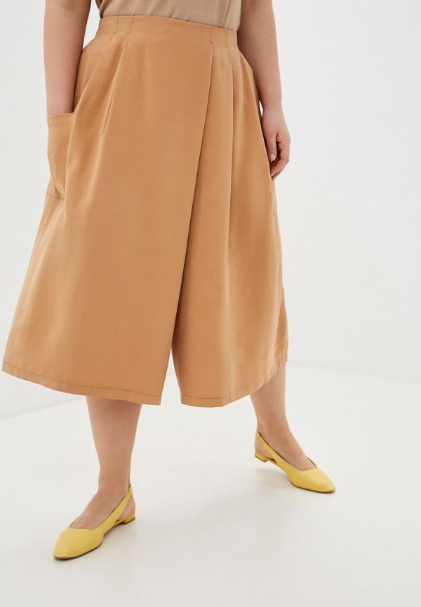 женские брюки клеш nataliy beate, коричневые