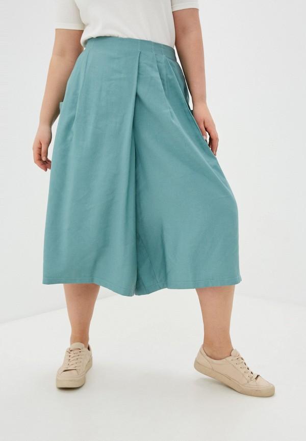 женские брюки клеш nataliy beate, бирюзовые