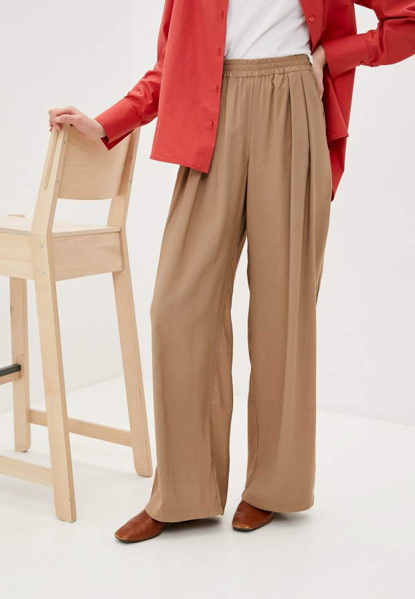 женские прямые брюки nataliy beate, бежевые