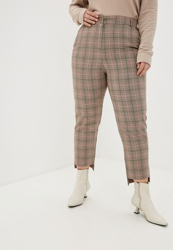 женские зауженные брюки nataliy beate, коричневые