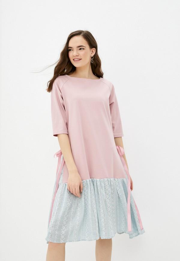 женское повседневные платье nataliy beate, розовое