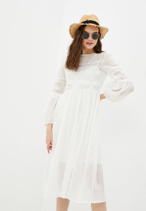 женское повседневные платье nataliy beate, белое