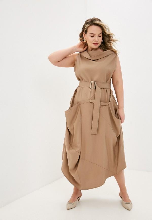 женское повседневные платье nataliy beate, бежевое