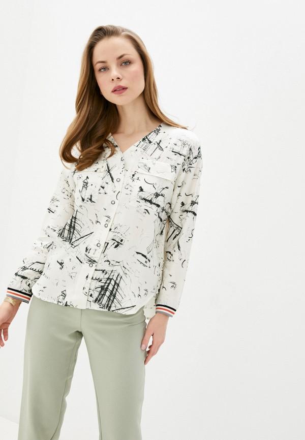женская блузка с длинным рукавом bulmer, бежевая