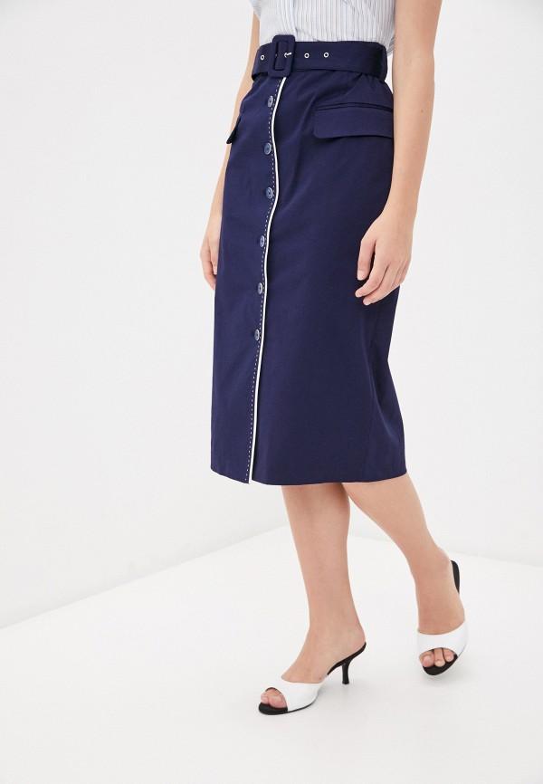 женская прямые юбка bulmer, синяя