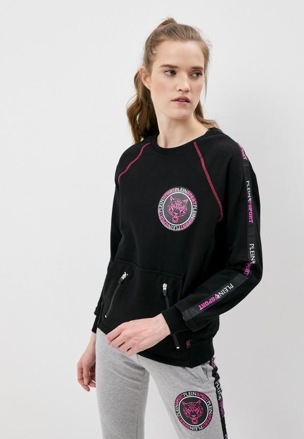 женский свитшот plein sport, черный