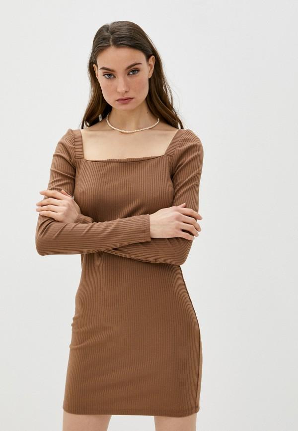 женское платье-футляр trendyangel, коричневое