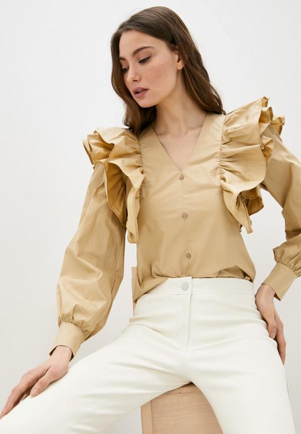 женская блузка trendyangel, бежевая