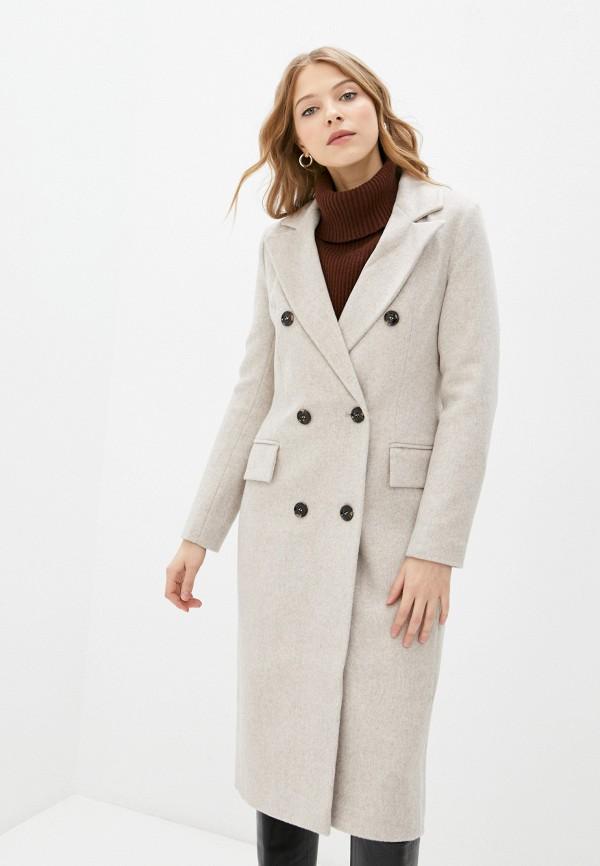 женское двубортные пальто trendyangel, бежевое