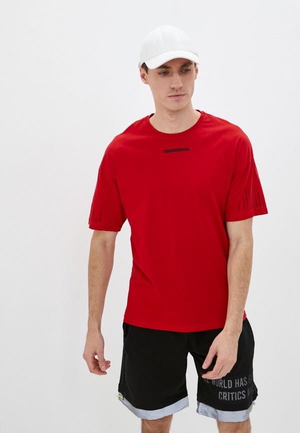 мужская спортивные футболка dali, красная
