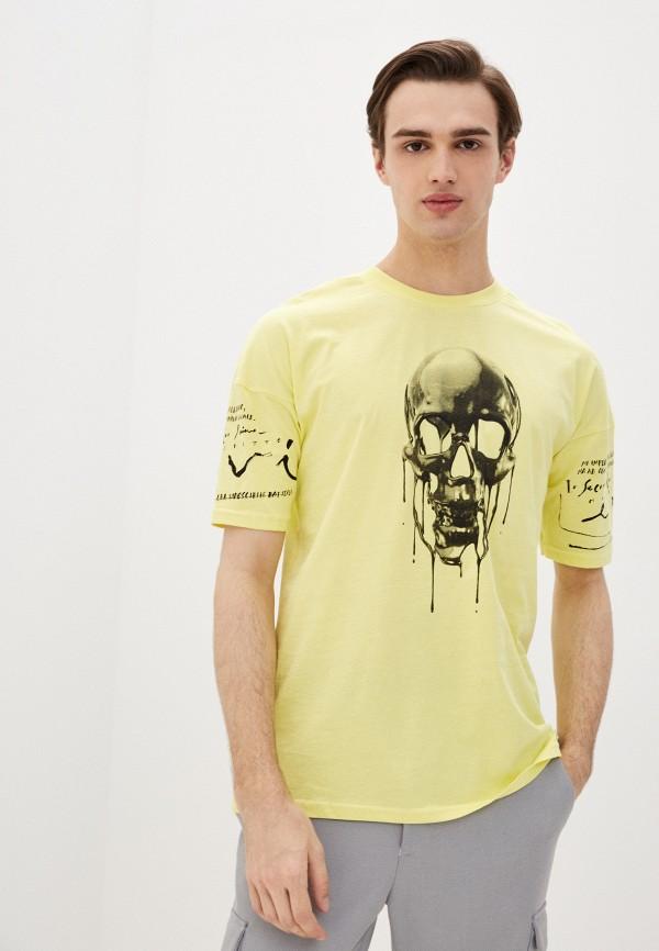 мужская спортивные футболка dali, желтая
