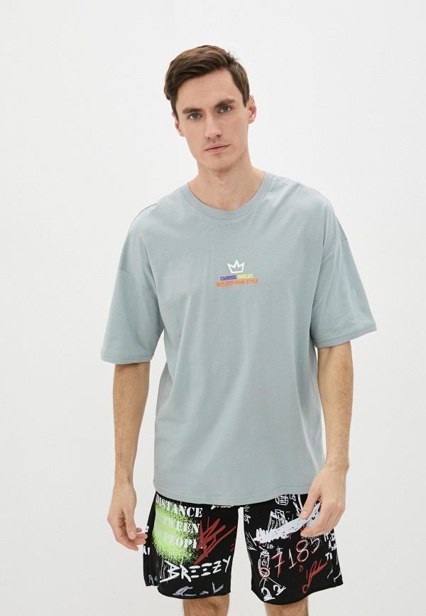 мужская спортивные футболка dali, бирюзовая