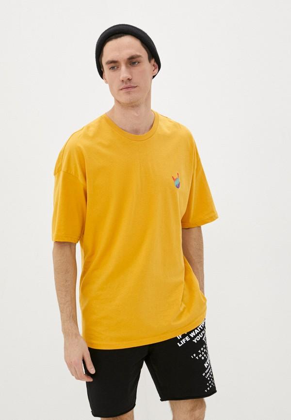 мужская спортивные футболка dali, оранжевая