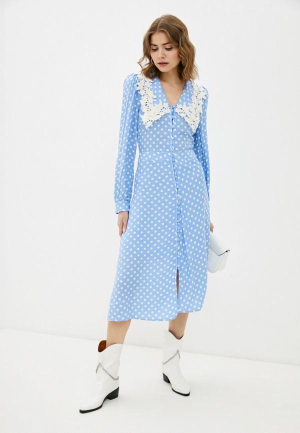 женское повседневные платье trendyol, голубое