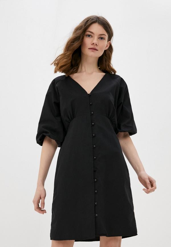 женское повседневные платье trendyol, черное
