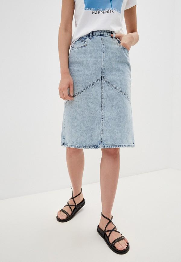 женская джинсовые юбка trendyol, голубая