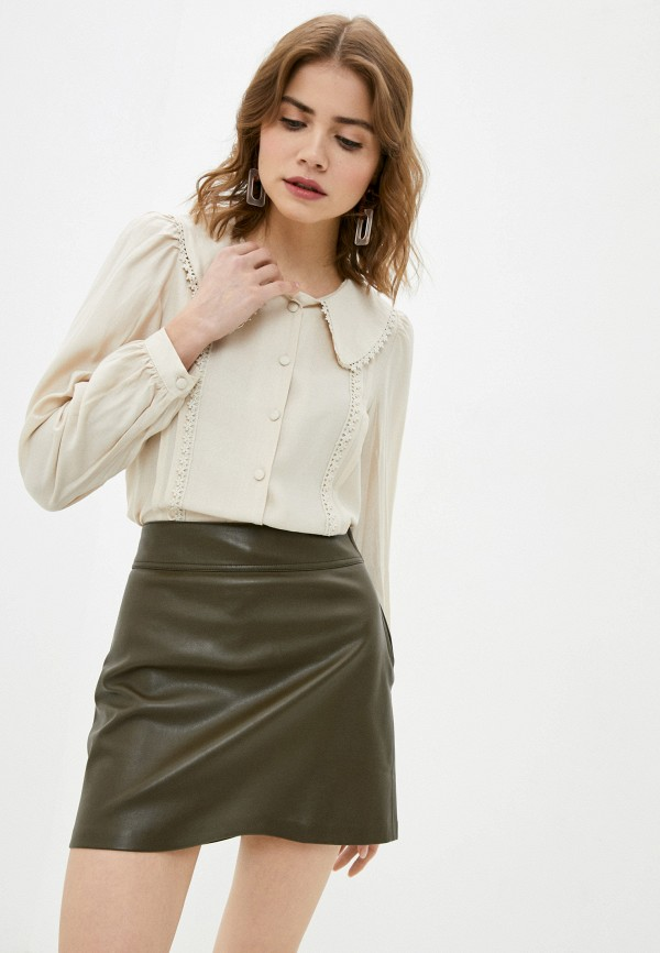 женская блузка trendyol, бежевая