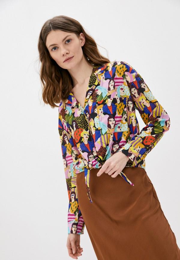 женская блузка trendyol, разноцветная