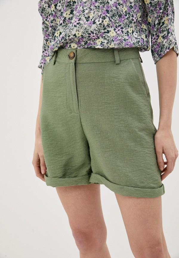 женские повседневные шорты trendyol, зеленые